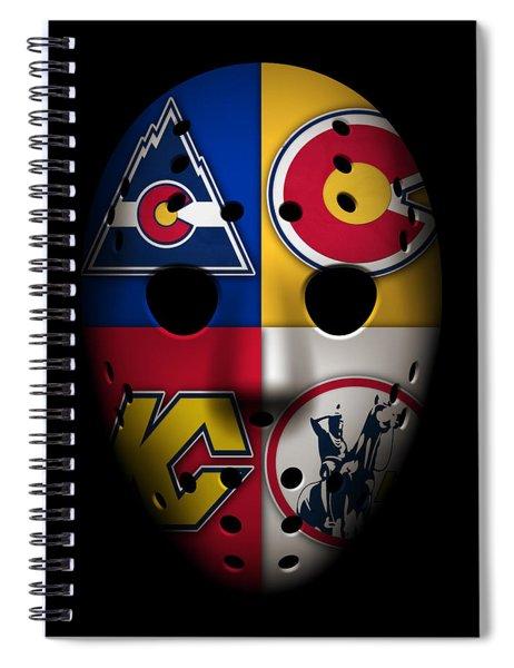 Rockies Goalie Mask Spiral Notebook