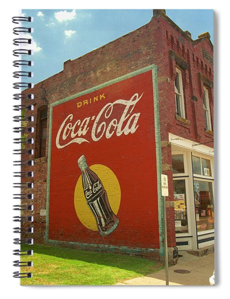 Route 66 - Coca Cola Ghost Mural Spiral Notebook