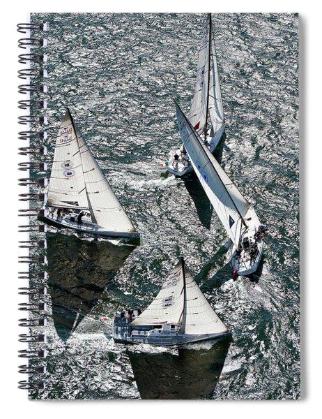 Sailboats In Swan Nyyc Invitational Spiral Notebook