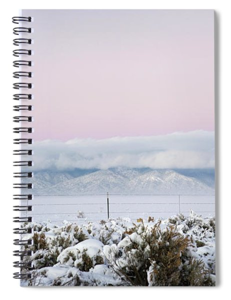Sangre De Cristo Range With Clouds Spiral Notebook