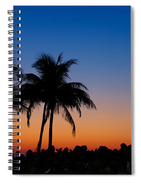 Spiral Notebook featuring the photograph Sanibel Island Florida Sunset by Robert Bellomy