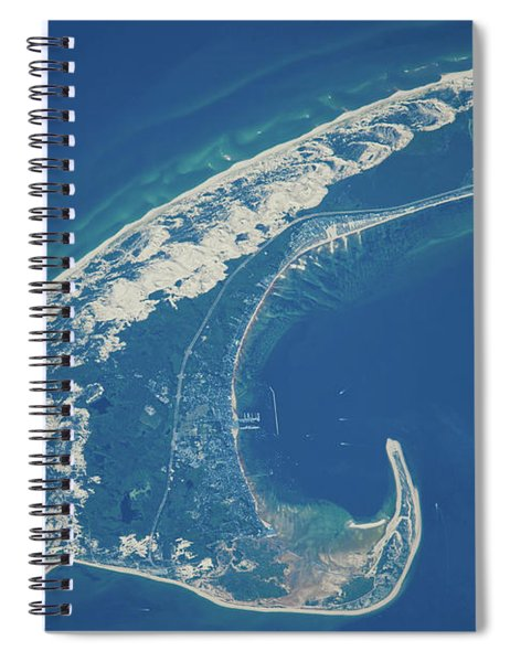 Satellite View Of Cape Cod National Spiral Notebook