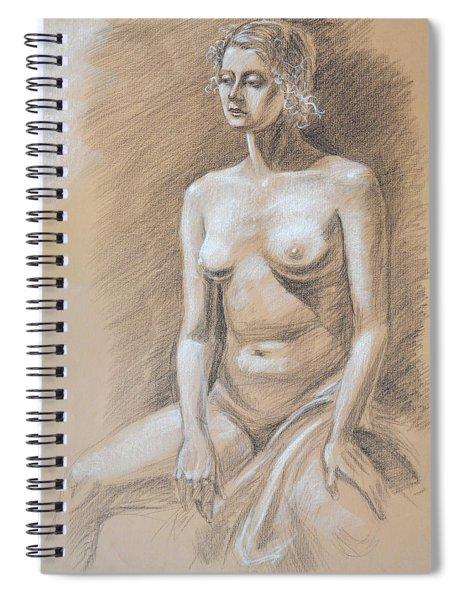 Seated Model Drawing  Spiral Notebook by Irina Sztukowski