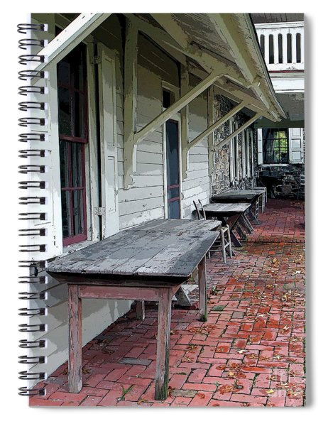 Secluded Portico Spiral Notebook