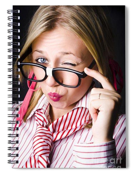 Secretive Nerd Misleading With A Wink Of Deceit  Spiral Notebook