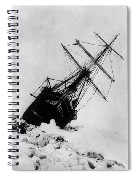 Shackletons Endurance Trapped In Pack Spiral Notebook