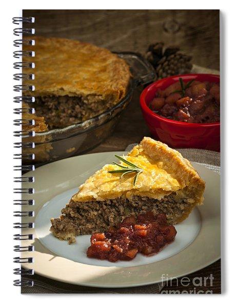 Slice Of Tourtiere Meat Pie  Spiral Notebook