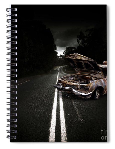 Smashed Up Car Wreck Spiral Notebook