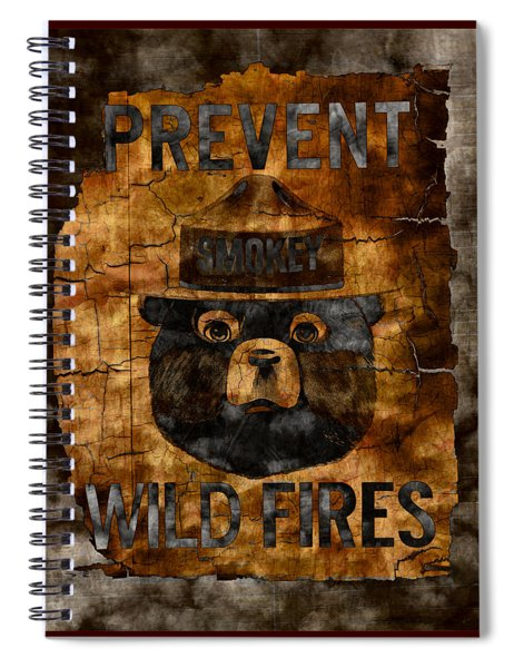 Smokey The Bear Only You Can Prevent Wild Fires Spiral Notebook