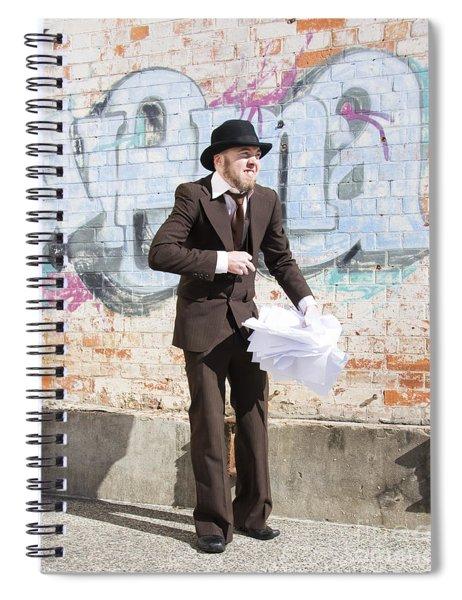 Sniggering Salesman Spiral Notebook