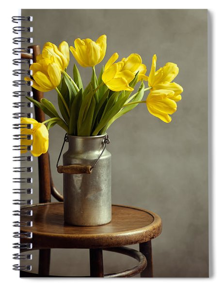 Still Life With Yellow Tulips Spiral Notebook