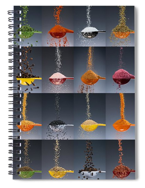 1 Tablespoon Flavor Collage Spiral Notebook