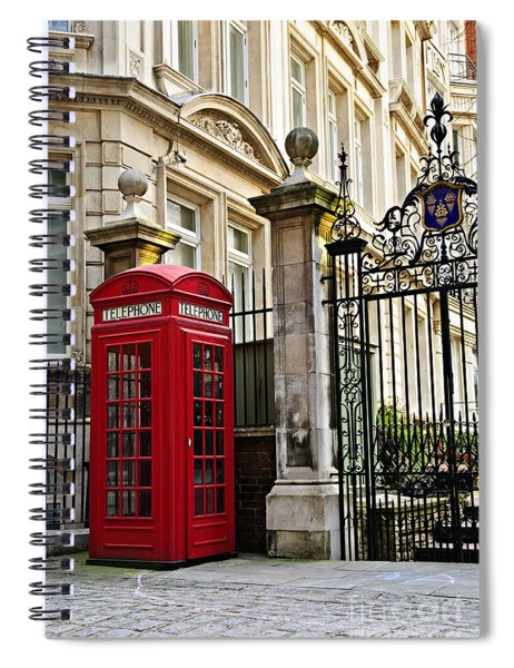 Telephone Box In London Spiral Notebook