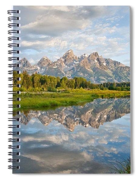 Teton Range Reflected In The Snake River Spiral Notebook