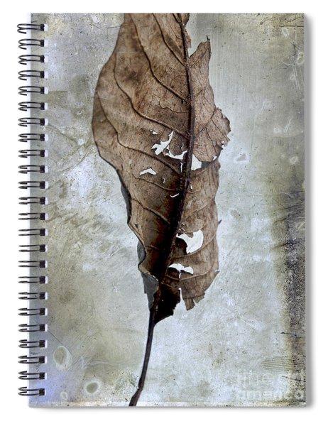 Textured Leaf Spiral Notebook