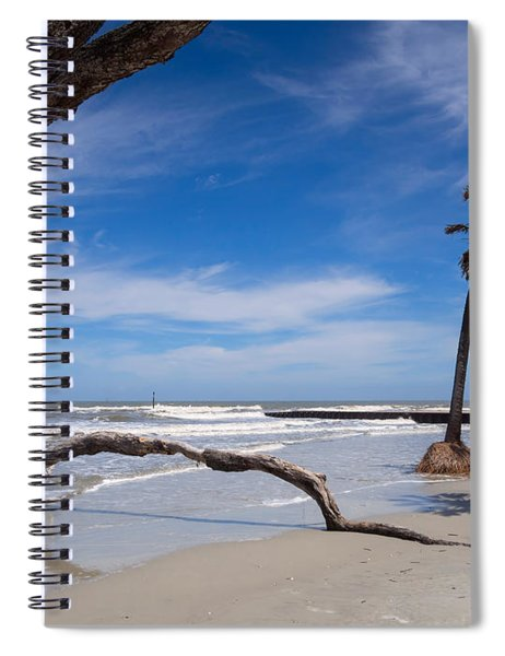 The Beach At Hunting Island State Park Spiral Notebook