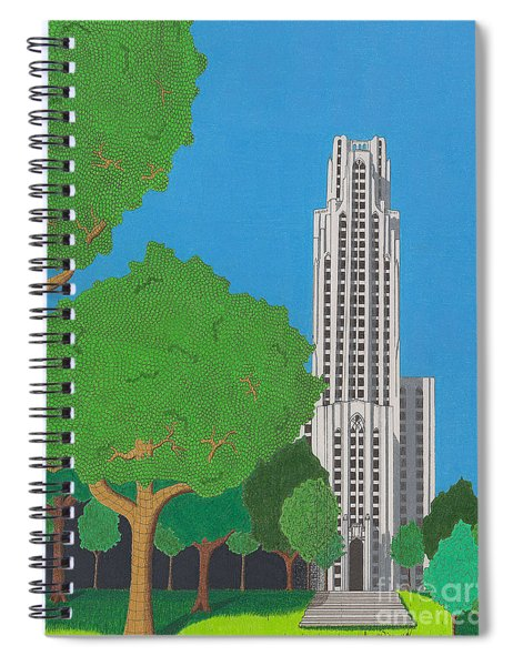 The Cathedral Of Learning Spiral Notebook