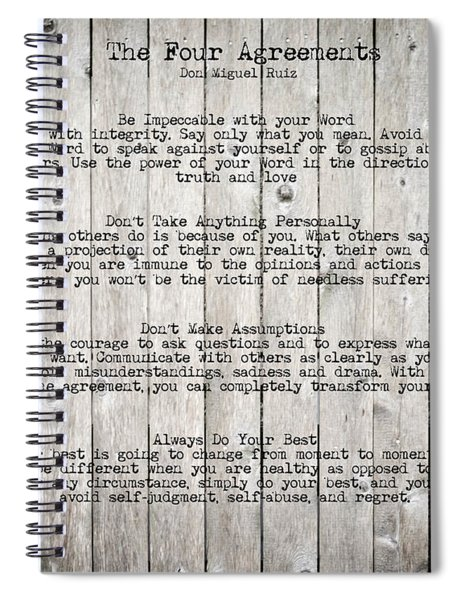 The Four Agreements Spiral Notebook