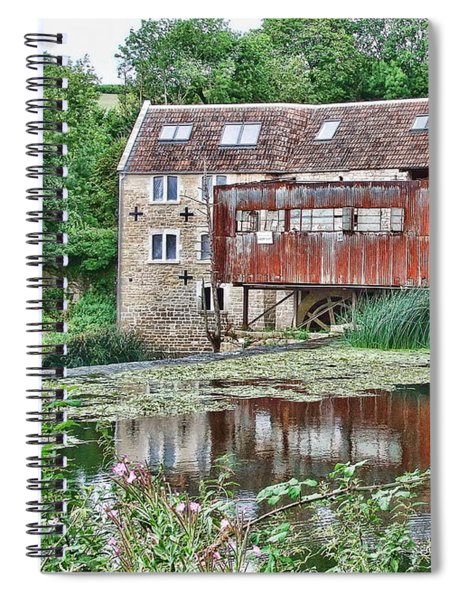 The Old Mill Avoncliff Spiral Notebook