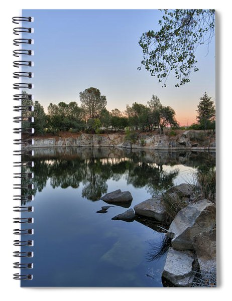 Spiral Notebook featuring the photograph The Quinn Quarry by Jim Thompson