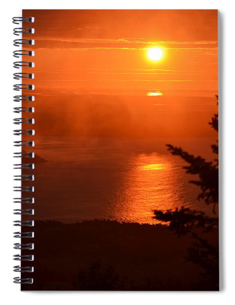 The Sunrise From Cadillac Mountain In Acadia National Park Spiral Notebook