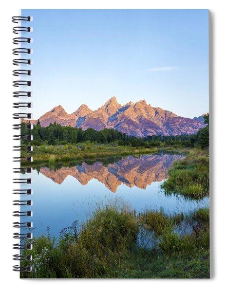 The Tetons Reflected On Schwabachers Landing - Grand Teton National Park Wyoming Spiral Notebook