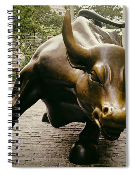 The Wall Street Bull Spiral Notebook