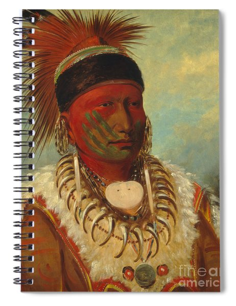 The White Cloud Head Chief Of The Iowas Spiral Notebook