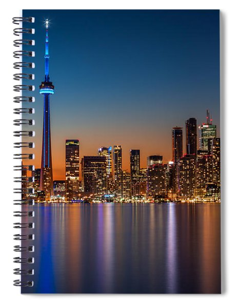 Toronto Skyline At Dusk Spiral Notebook