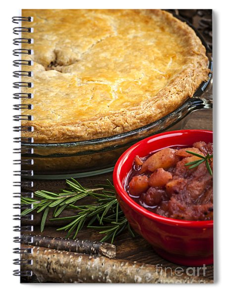 Tourtiere Meat Pie Spiral Notebook