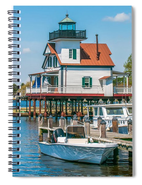 Town Of Edenton Roanoke River Lighthouse In Nc Spiral Notebook