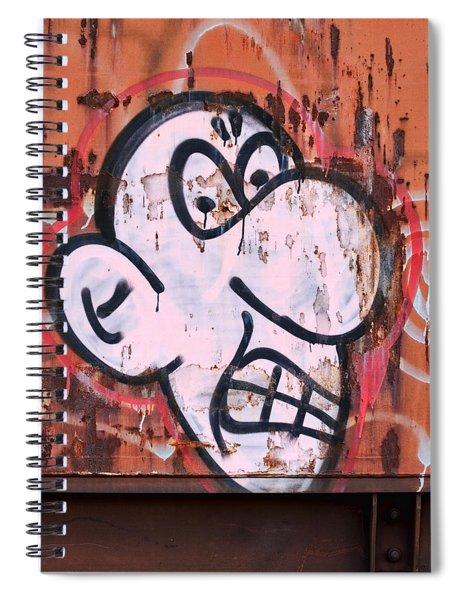 Train Art Cartoon Face Spiral Notebook