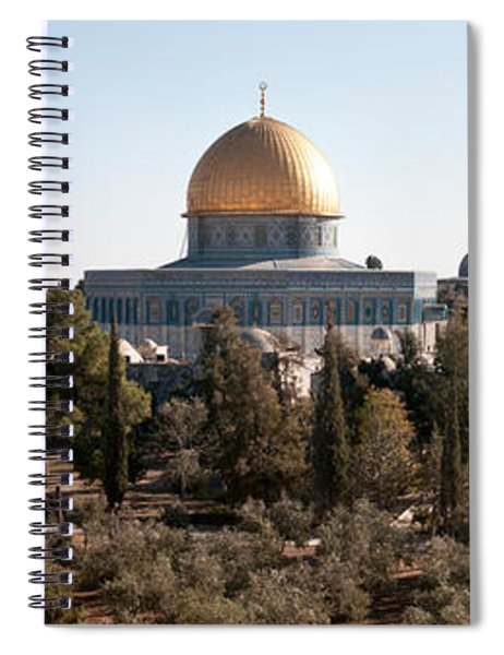Trees With Mosque In The Background Spiral Notebook