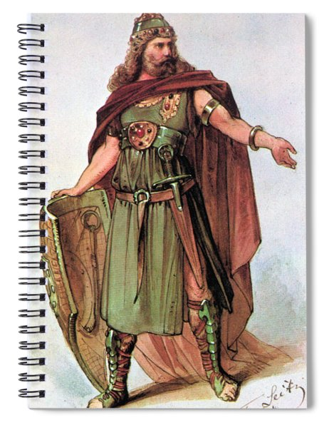 Tristan And Isolde, 1865 Spiral Notebook
