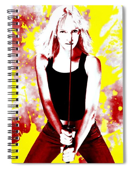 Uma Thurman Spiral Notebook