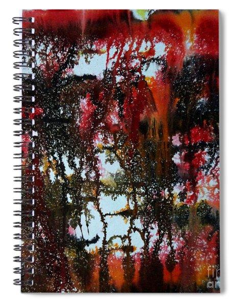 Red Forest Spiral Notebook