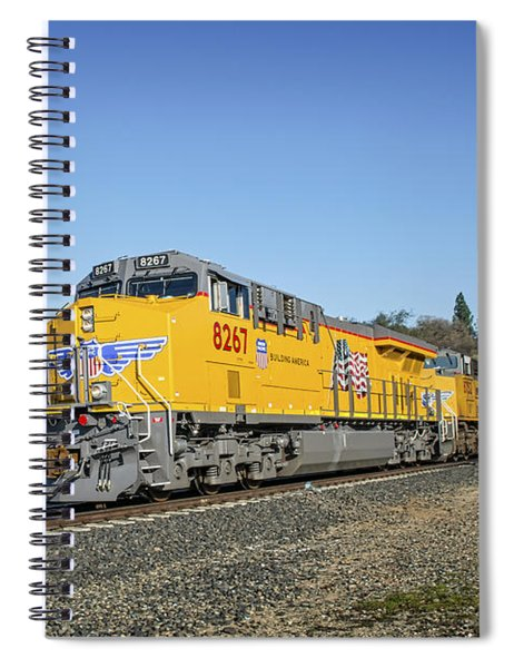 Spiral Notebook featuring the photograph Up 8267 by Jim Thompson