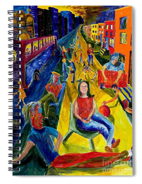 Urban Street People Spiral Notebook
