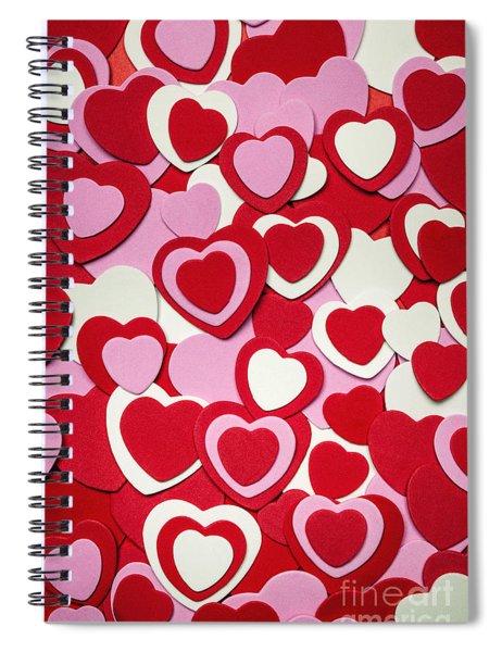 Valentines Day Hearts Spiral Notebook
