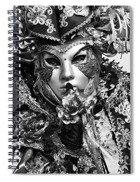 Venetian Mask Spiral Notebook