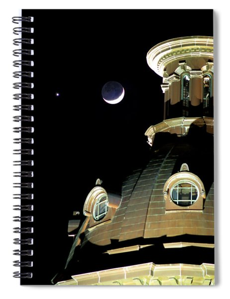 Venus And Crescent Moon-1 Spiral Notebook