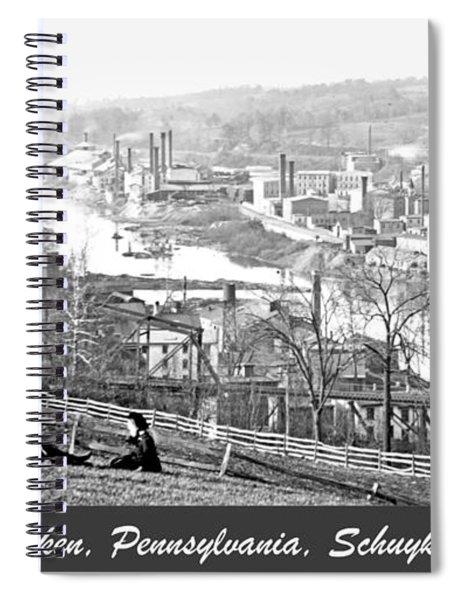 View Of Conshohocken Pennsylvania C 1900 Spiral Notebook