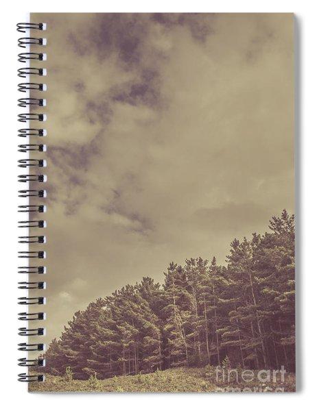Vintage Pine Forest Landscape In Strahan Tasmania Spiral Notebook