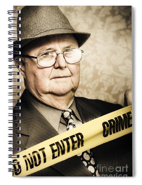 Vintage Portrait Of A Crime Detective Spiral Notebook