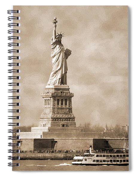 Vintage Statue Of Liberty Spiral Notebook