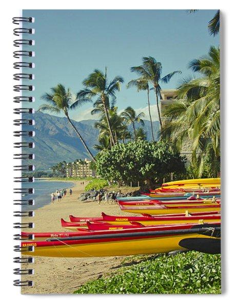 Kenolio Beach Sugar Beach Kihei Maui Hawaii  Spiral Notebook