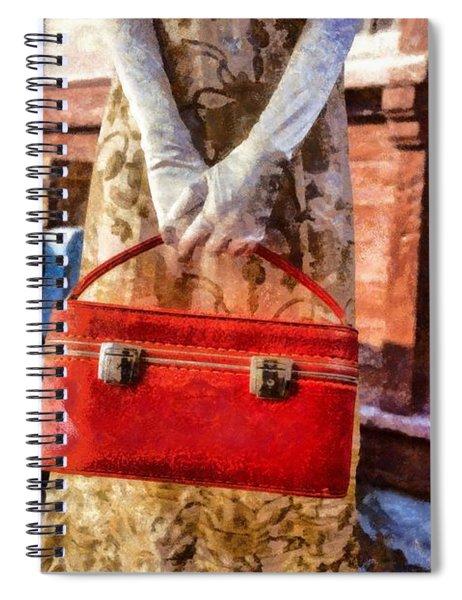 The Woman On Platform 8 Spiral Notebook
