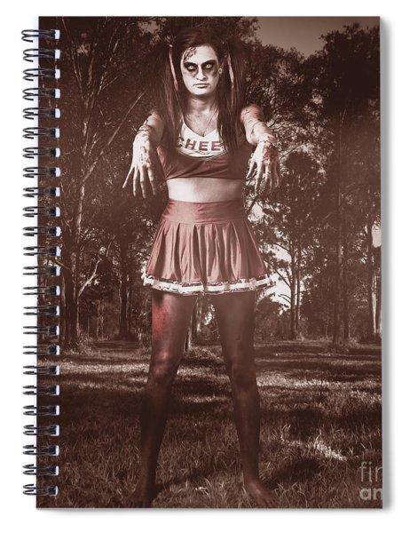 Walking Dead Schoolgirl Stumbling Back To School Spiral Notebook