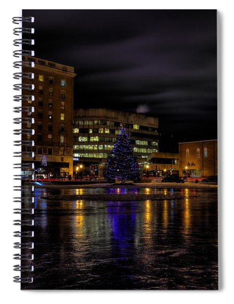 Wausau After Dark At Christmas Spiral Notebook