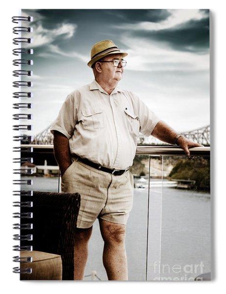 Wealthy Retired Man Spiral Notebook